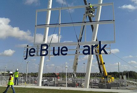 jet blue park sign by crannie in Florida