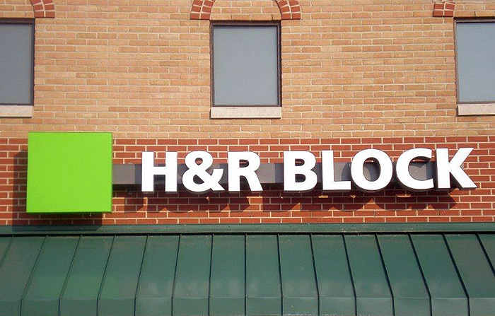H Amp R Block Signs By Crannie