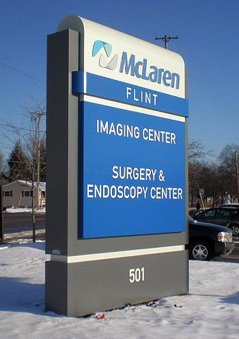 ... Of The Largest Health Care Groups In Mid Michigan, McLaren Regional  Medical Center Asked Signs By Crannie To Update The Monument Signs Around  Its Flint ...