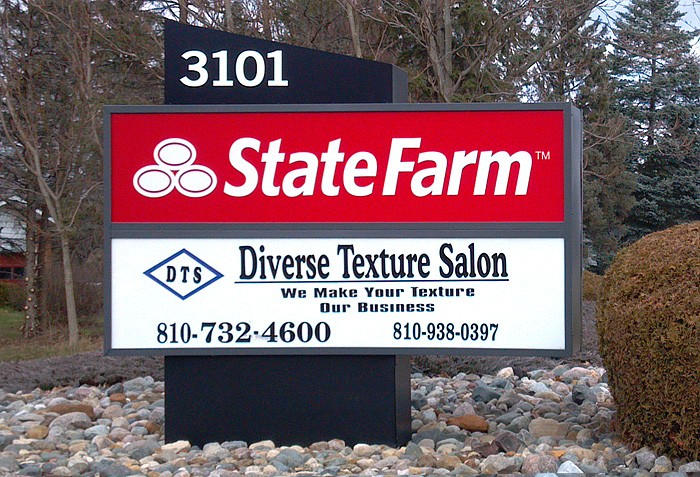 state farm corporate logo sign flint michigan signs by crannie
