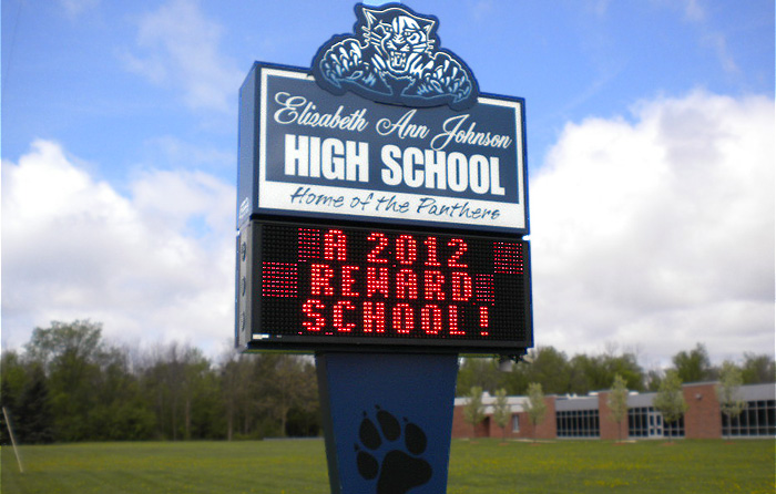 mt. morris high school sign by crannie