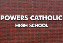 powers-catholic-high-school-sign