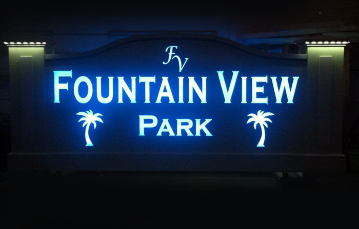 fountain-view-monument-sign-night