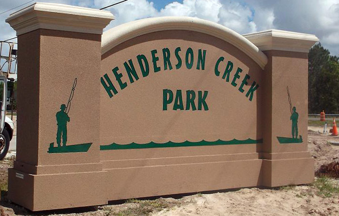 park sign florida