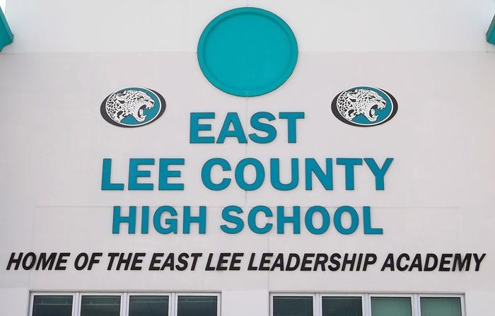 high school signage