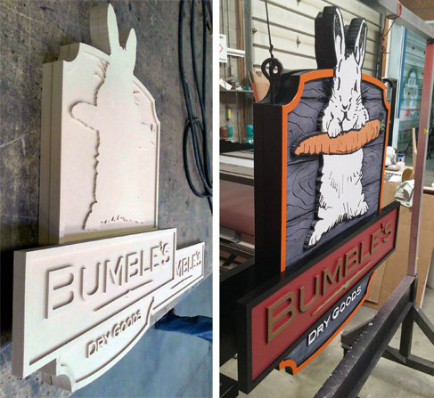 custom signs fabrication