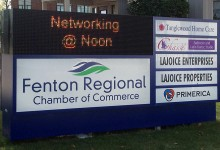 outdoor led sign fenton mi