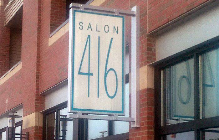 hair salon business sign