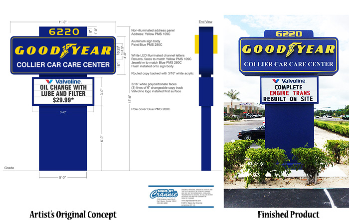 Pylon Sign Design - Naples, Florida | Signs by Crannie