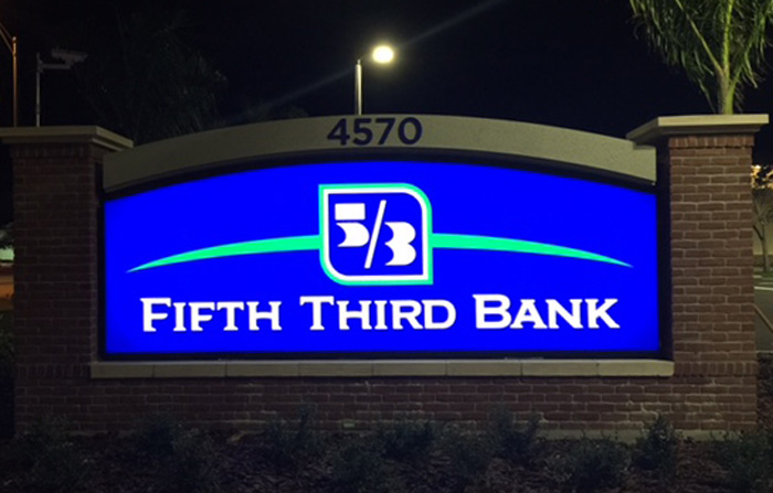 bank monument sign ft myers