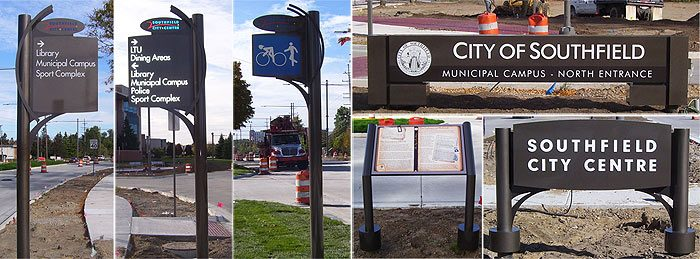 city wayfinding signs