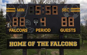 high school soccer score board