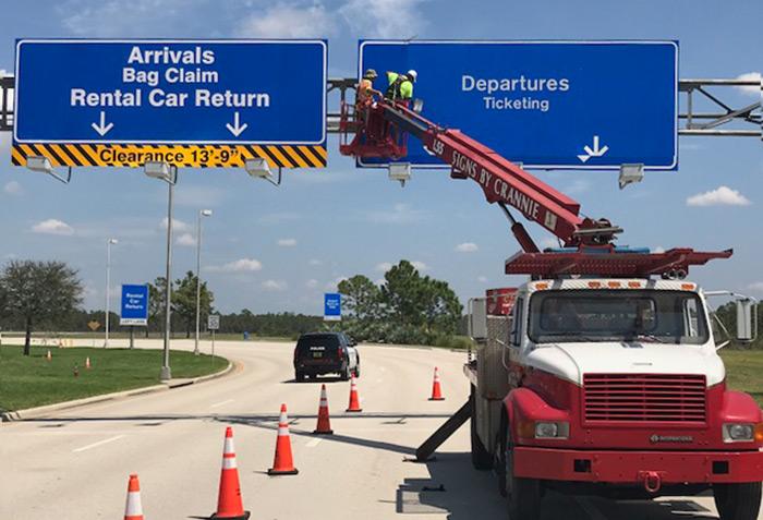 florida airport sign