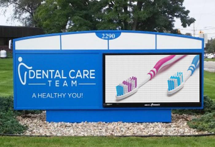 Sign restoration dental office after