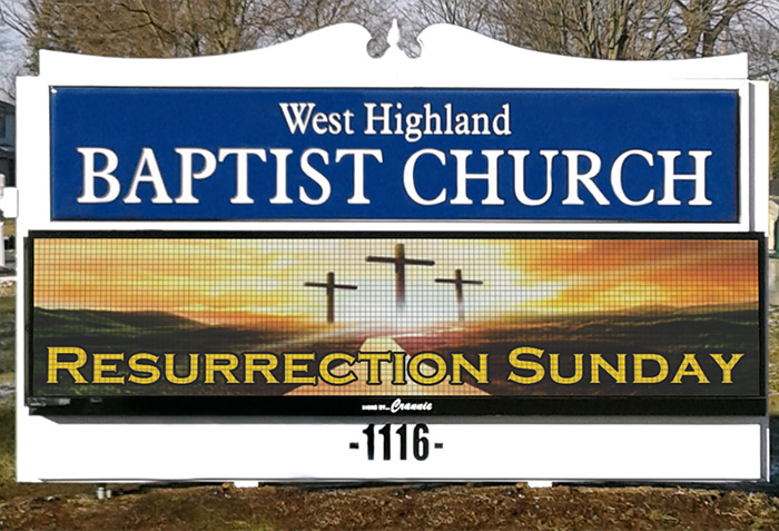 Church Sign Restoration After