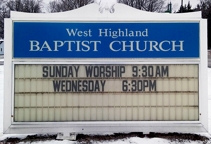church sign restoration before