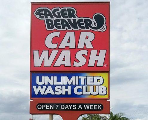 car wash outdoor sign