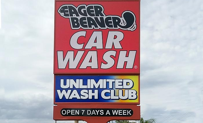 car wash outdoor sign