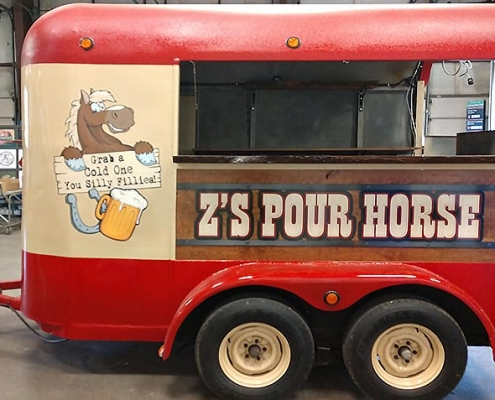 custom painted horse trailer