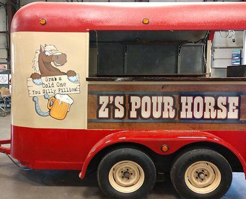 custom painted horse trailer