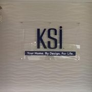 clear acrylic indoor sign