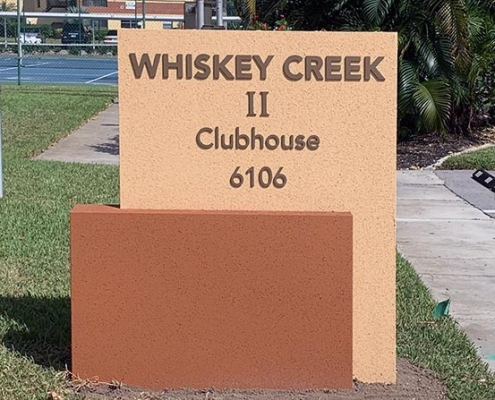 florida clubhouse monument sign