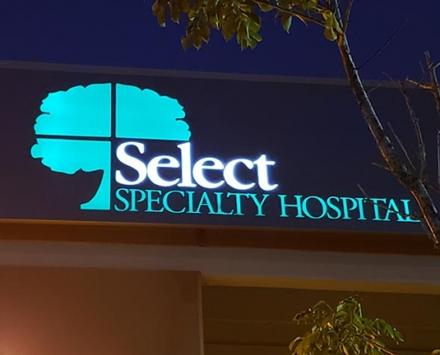 Outdoor sign and logo