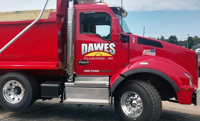 truck fleet lettering