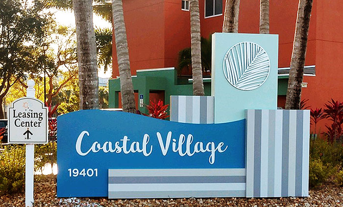 apartment condo sign, Fort Myers, Florida