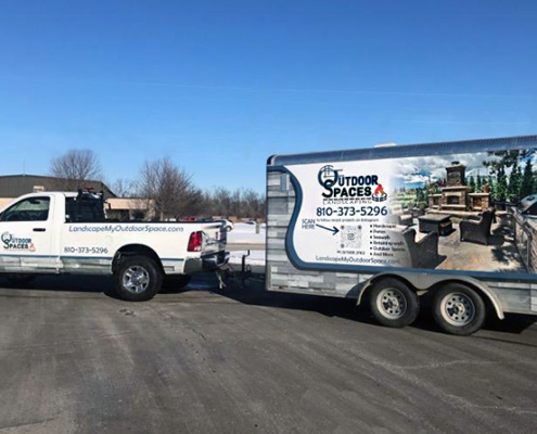 truck trailer business wrap