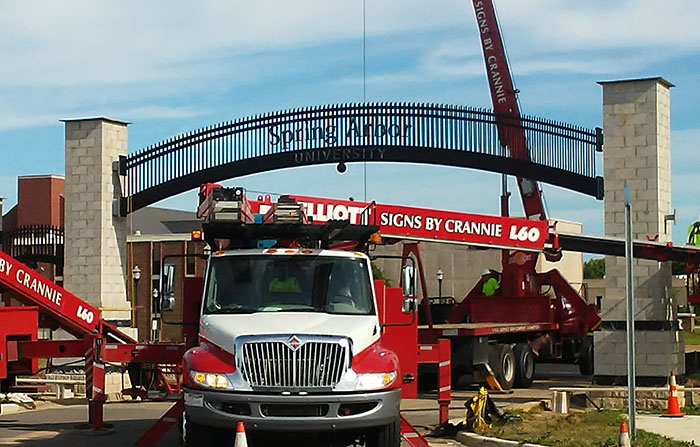 Archway entrance construction
