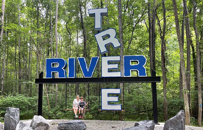 large metal letters sign